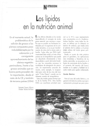 RIOSA lipids in animal nutrition pork iberico